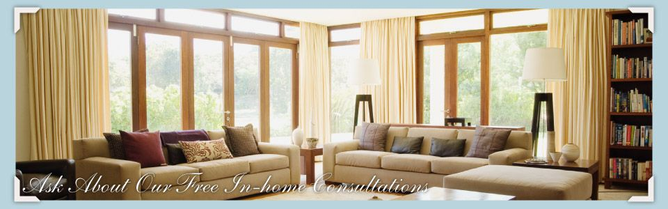 Ask About Our Free In-home Consultations - decorated living room